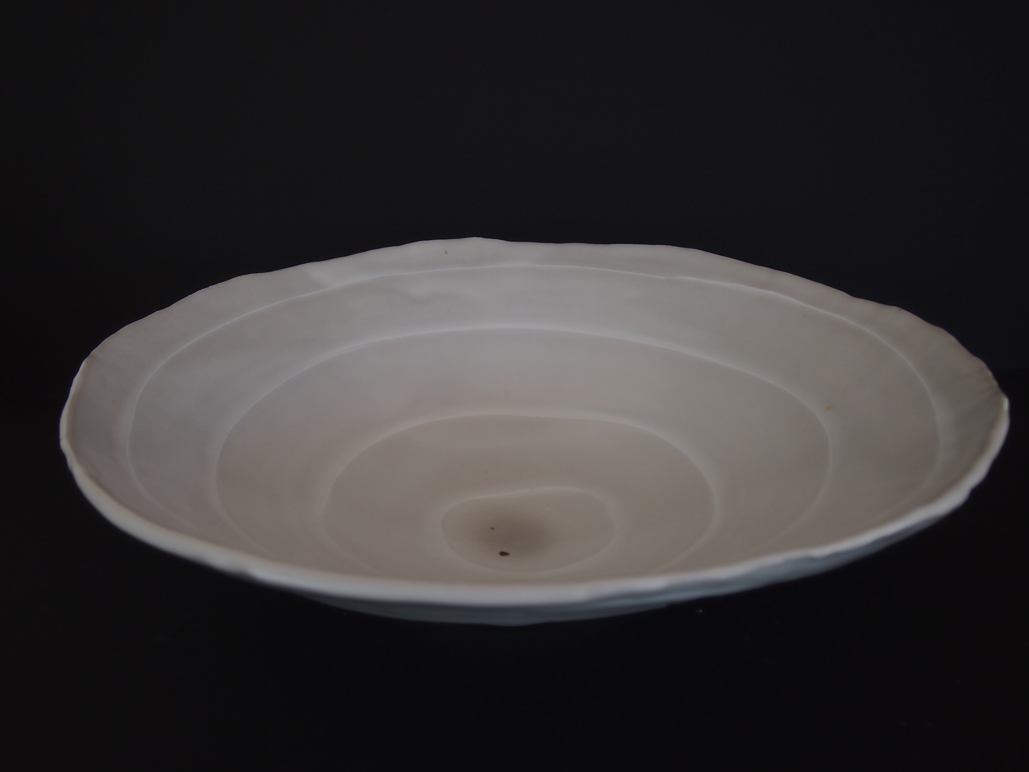 Stoneware altered and slip trailed rock pool bowl
