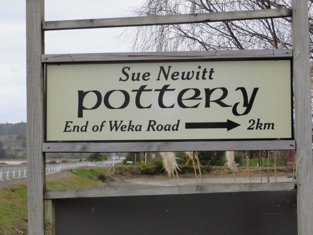 Weka Road sign for Sue Newitt Ceramics